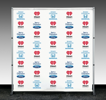indoor economy Step and Repeat banner
