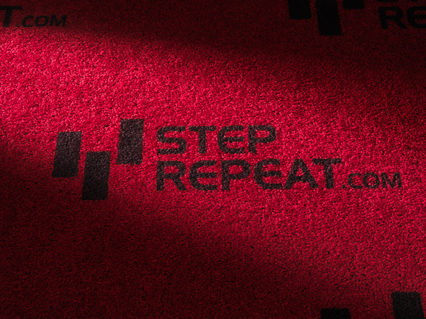 Step and Repeat Printed Red Carpet