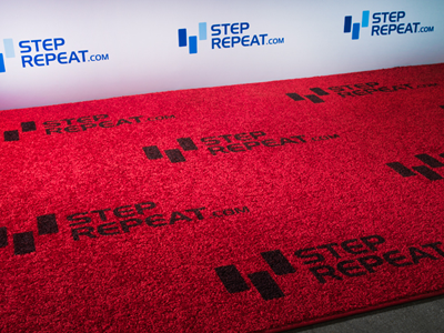 Add Glamour to Your Banner: StepRepeat.com Carpet Options